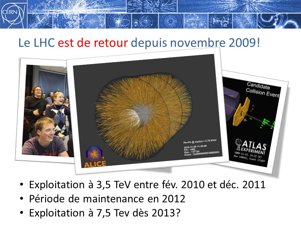 Le LHC est de retour depuis novembre 2009!