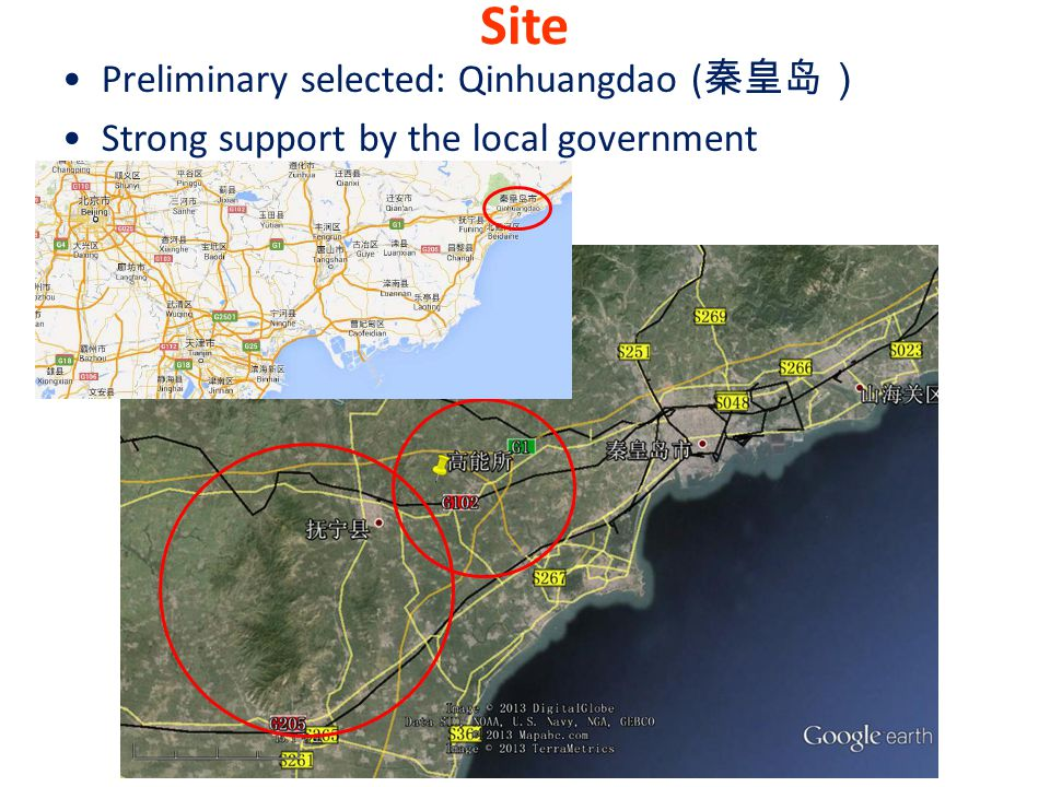 Site Preliminary selected: Qinhuangdao (秦皇岛)