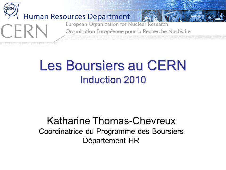 Les Boursiers au CERN Induction 2010