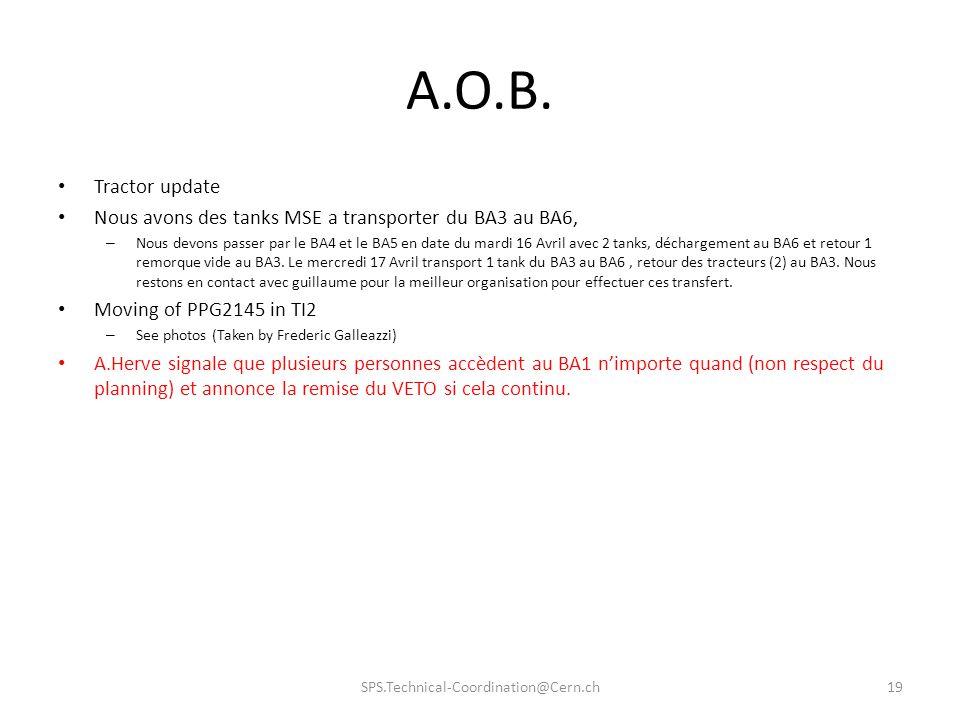 A.O.B. Tractor update. Nous avons des tanks MSE a transporter du BA3 au BA6,