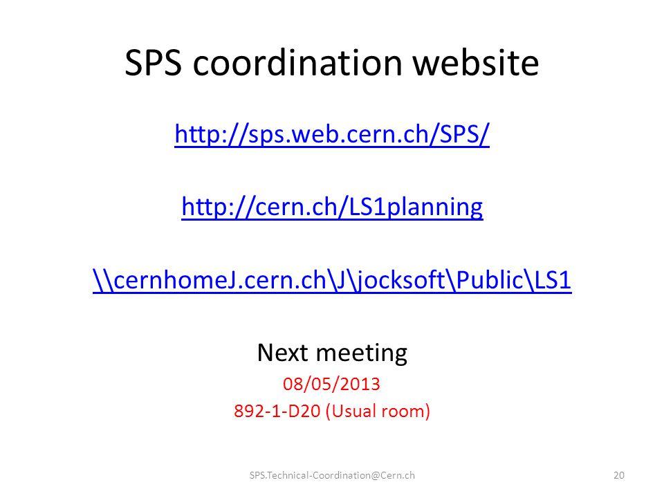SPS coordination website