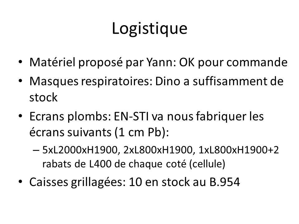 Logistique Matériel proposé par Yann: OK pour commande