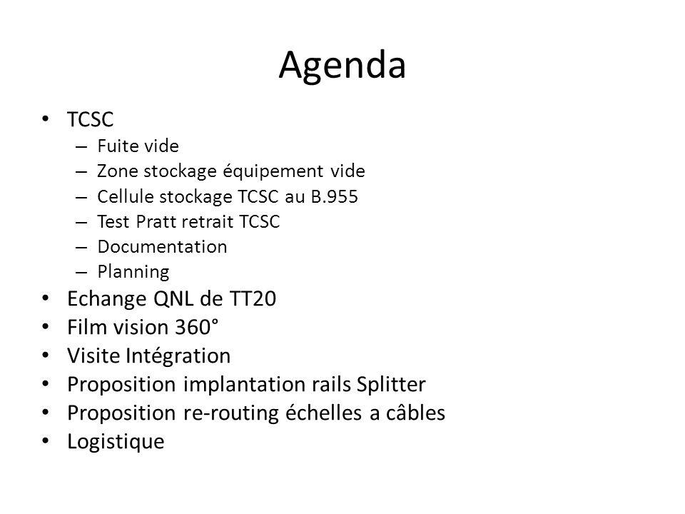 Agenda TCSC Echange QNL de TT20 Film vision 360° Visite Intégration