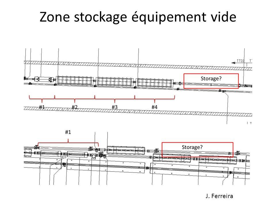 Zone stockage équipement vide