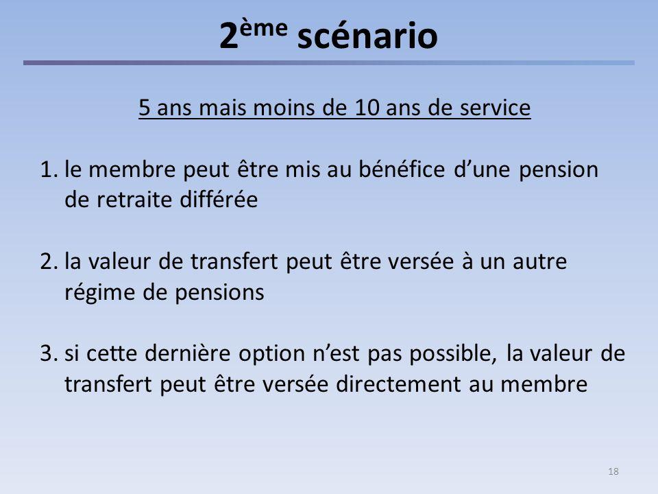 3ème scénario Plus de 10 ans de service