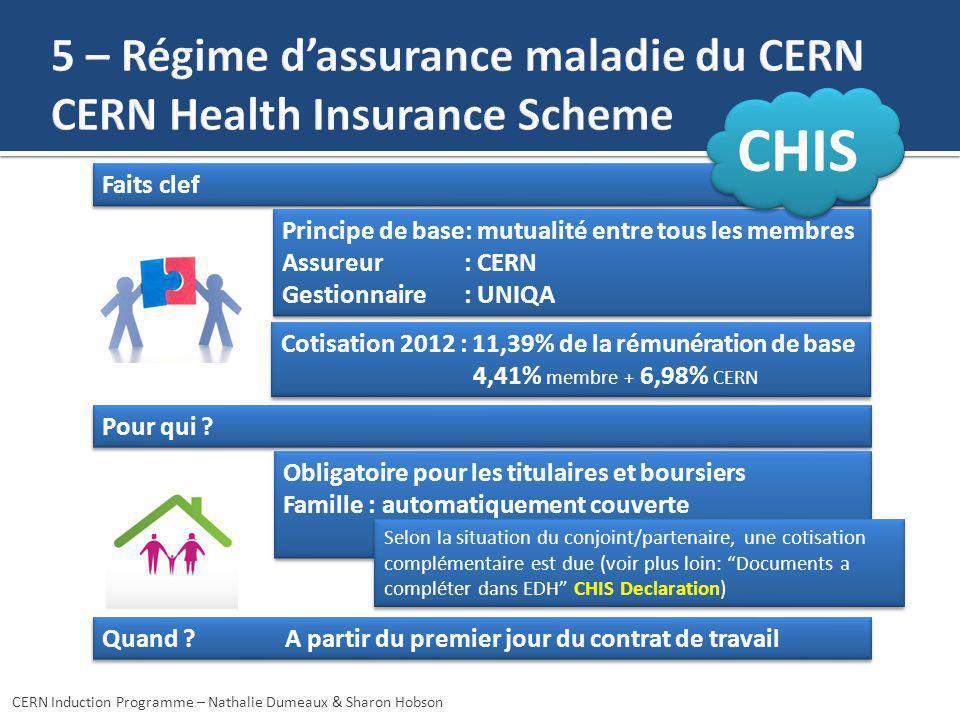 5 – Régime d'assurance maladie du CERN CERN Health Insurance Scheme