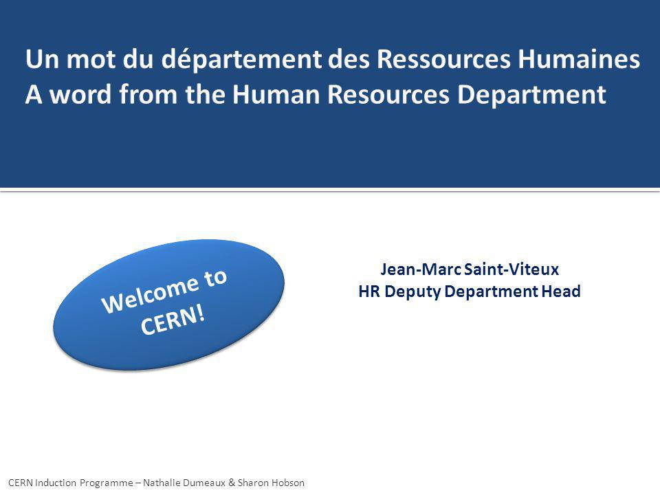 Jean-Marc Saint-Viteux HR Deputy Department Head