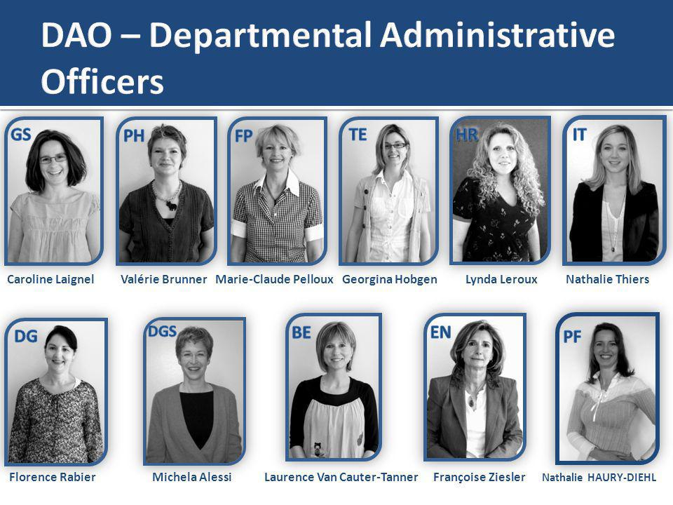 DAO – Departmental Administrative Officers