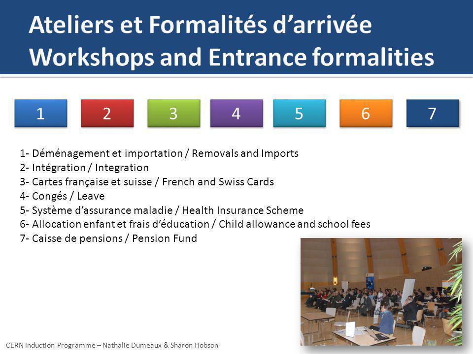 Ateliers et Formalités d'arrivée Workshops and Entrance formalities