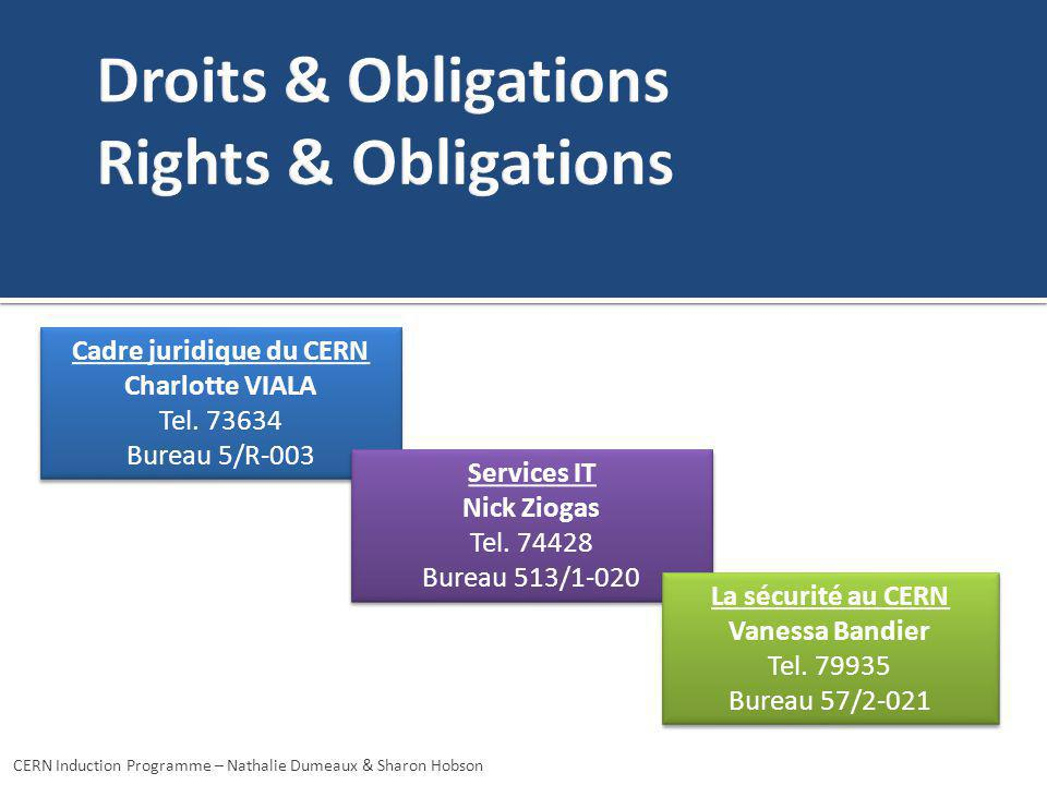 Droits & Obligations Rights & Obligations