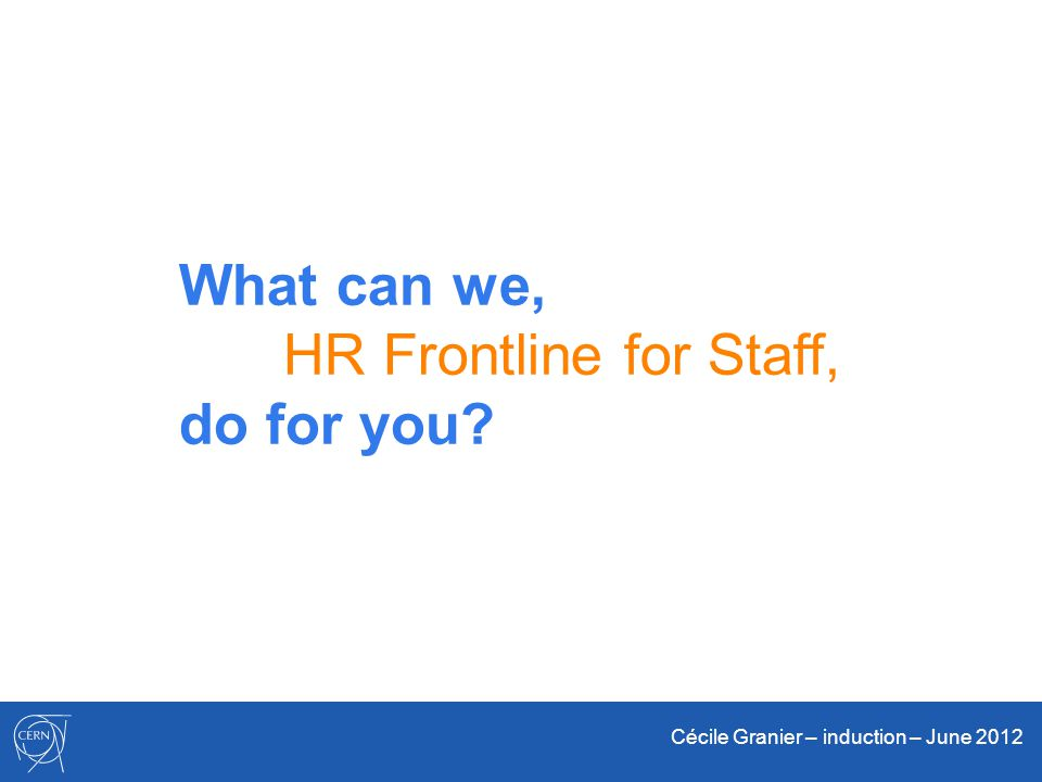 What can we, HR Frontline for Staff, do for you