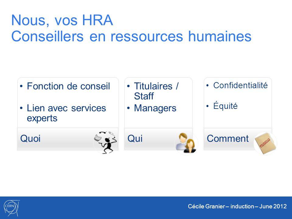 Nous, vos HRA Conseillers en ressources humaines
