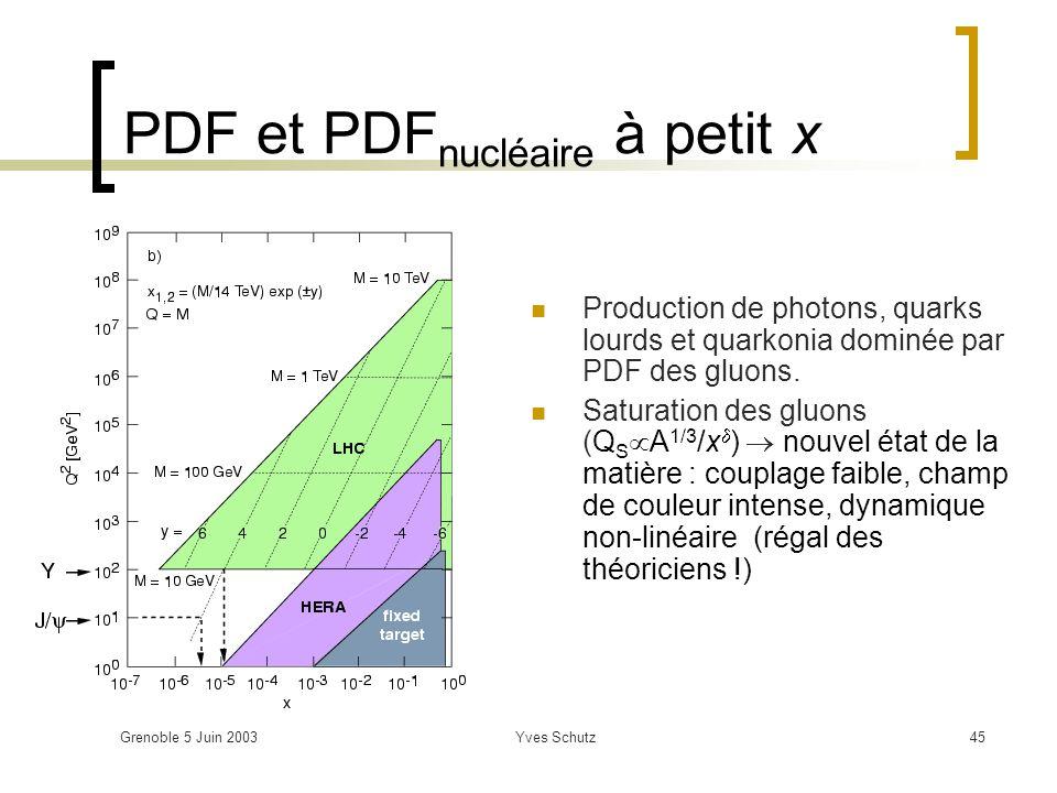 PDF et PDFnucléaire à petit x