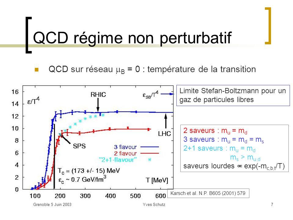 QCD régime non perturbatif