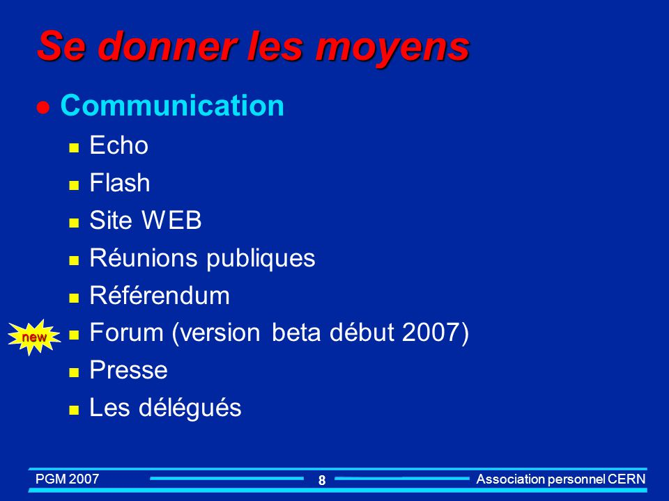 Se donner les moyens Communication Echo Flash Site WEB