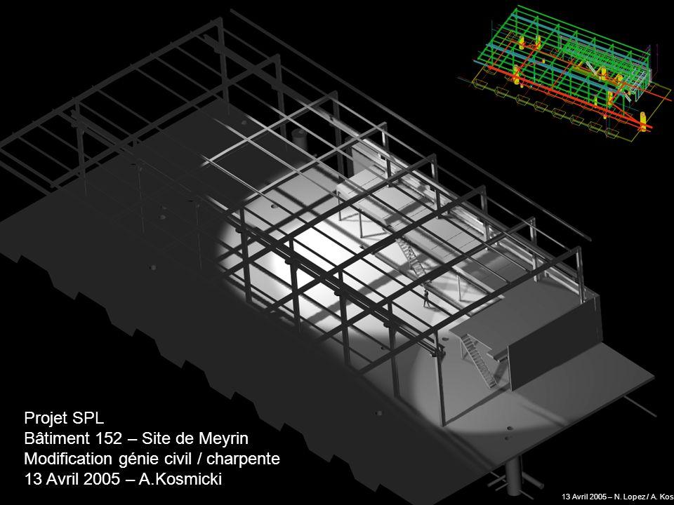 Bâtiment 152 – Site de Meyrin Modification génie civil / charpente