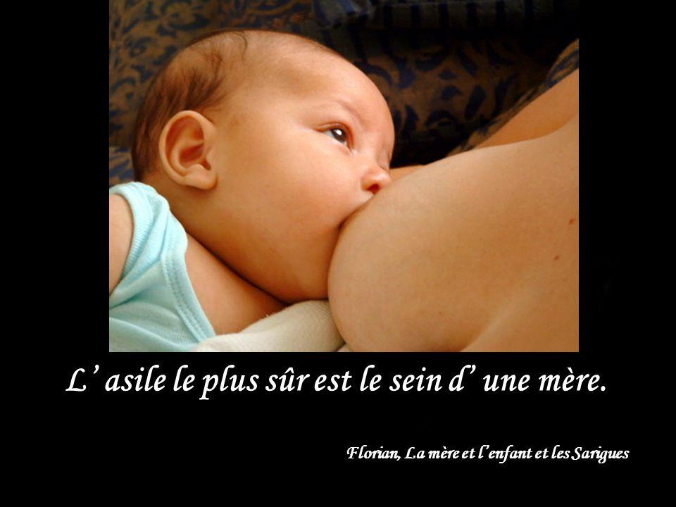 L' asile le plus sûr est le sein d' une mère.
