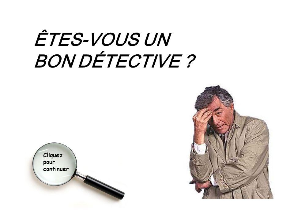 ÊTES-VOUS UN BON DÉTECTIVE