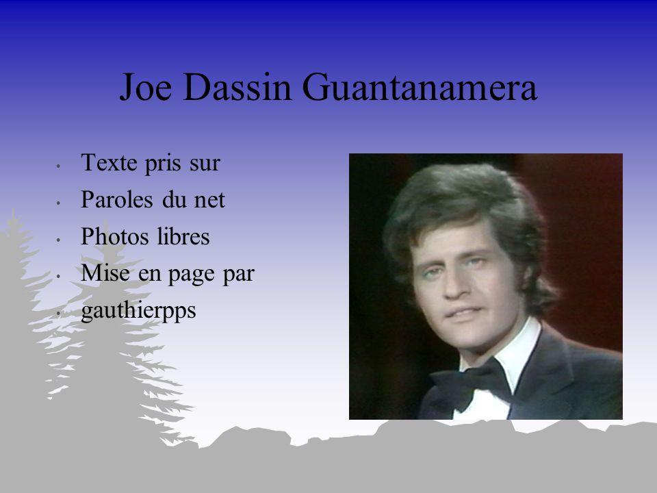 Joe Dassin Guantanamera
