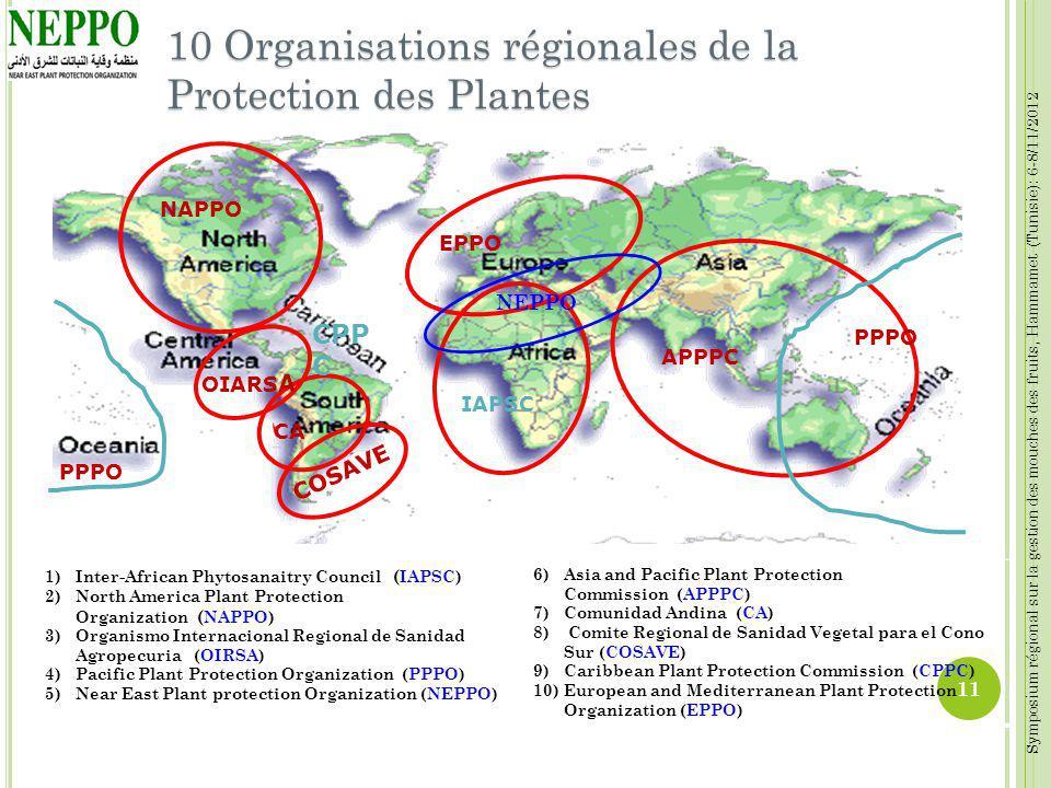 10 Organisations régionales de la Protection des Plantes