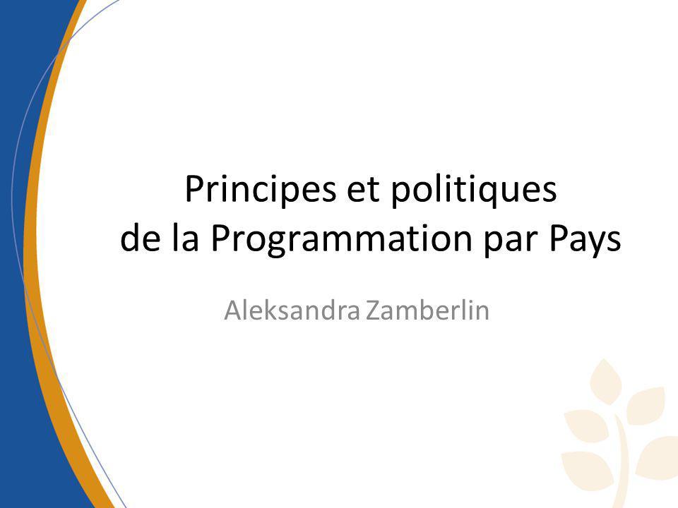 Principes et politiques de la Programmation par Pays