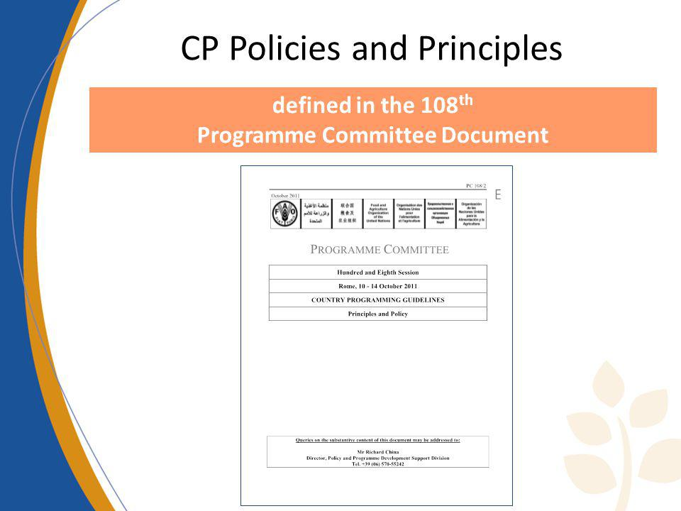 Programme Committee Document