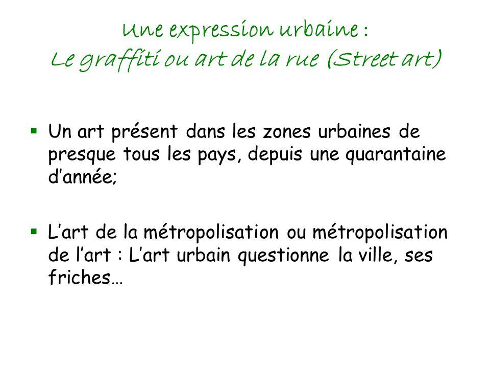 Une expression urbaine : Le graffiti ou art de la rue (Street art)