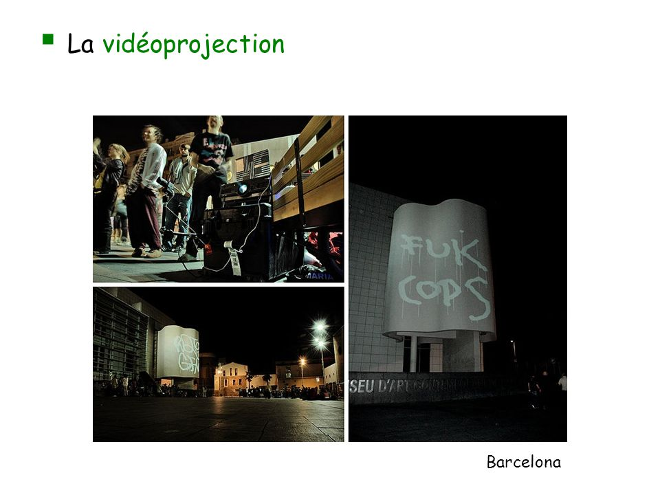 La vidéoprojection Barcelona
