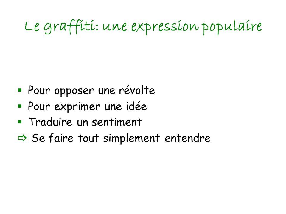 Le graffiti: une expression populaire