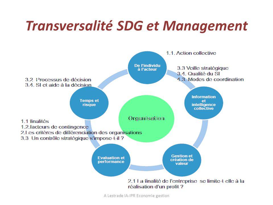 Transversalité SDG et Management