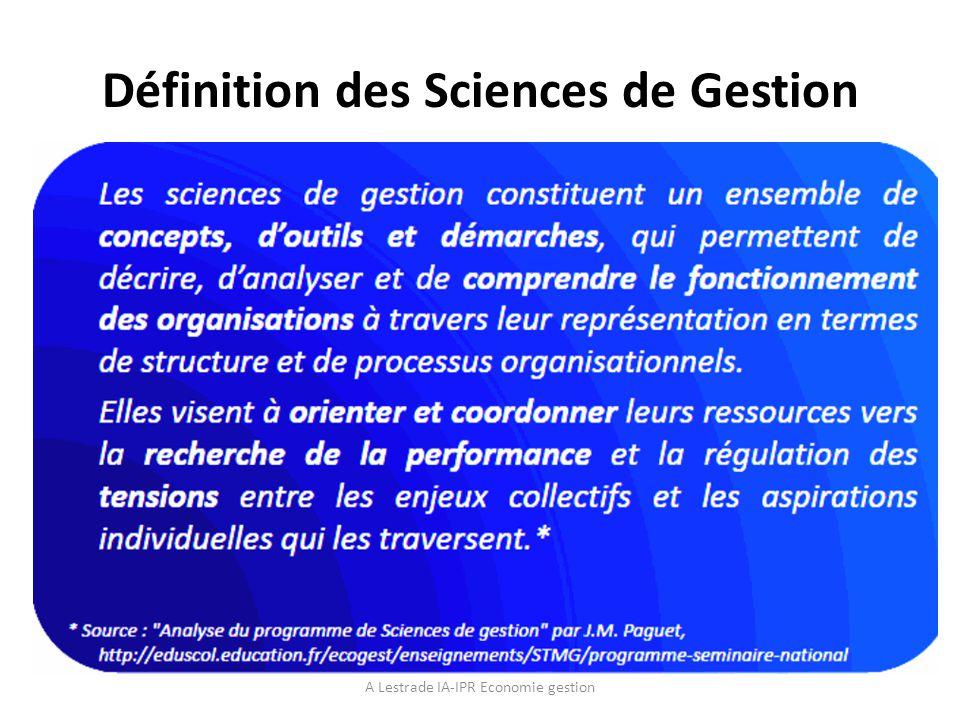 Définition des Sciences de Gestion