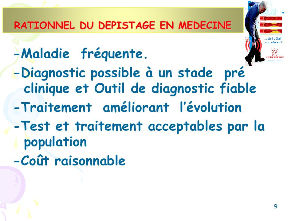 RATIONNEL DU DEPISTAGE EN MEDECINE