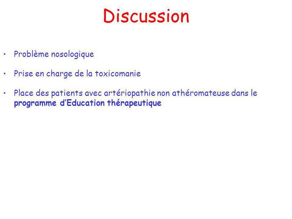 Discussion Problème nosologique Prise en charge de la toxicomanie