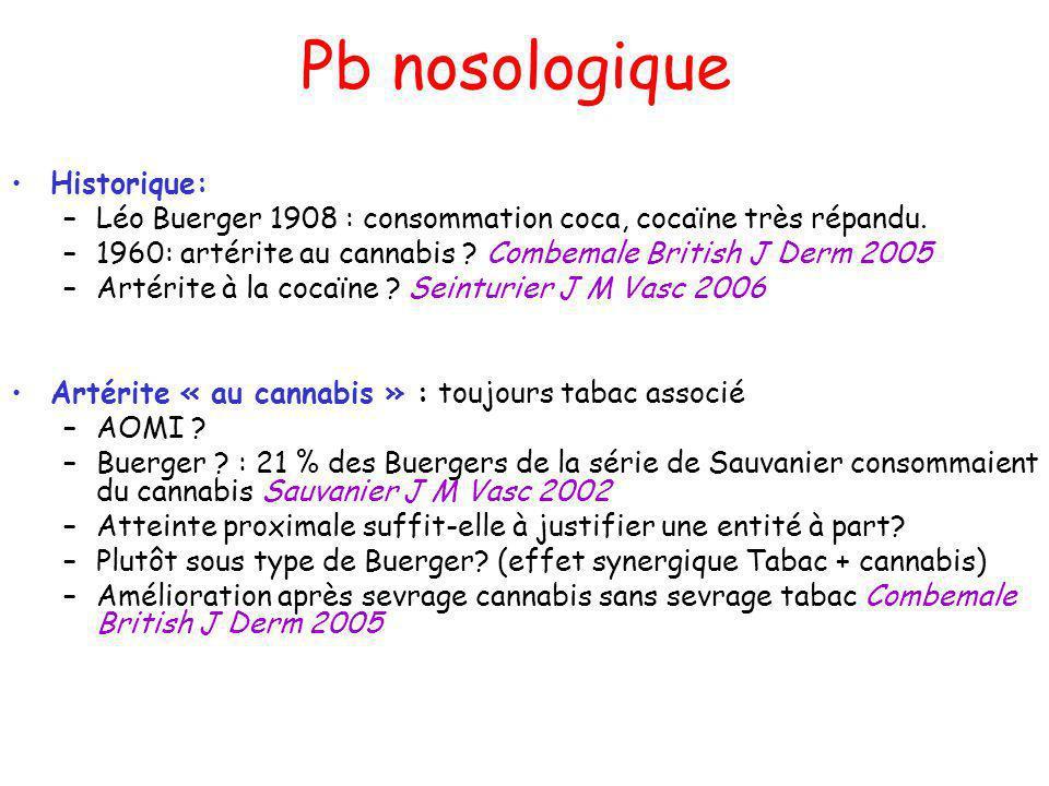 Pb nosologique Historique: