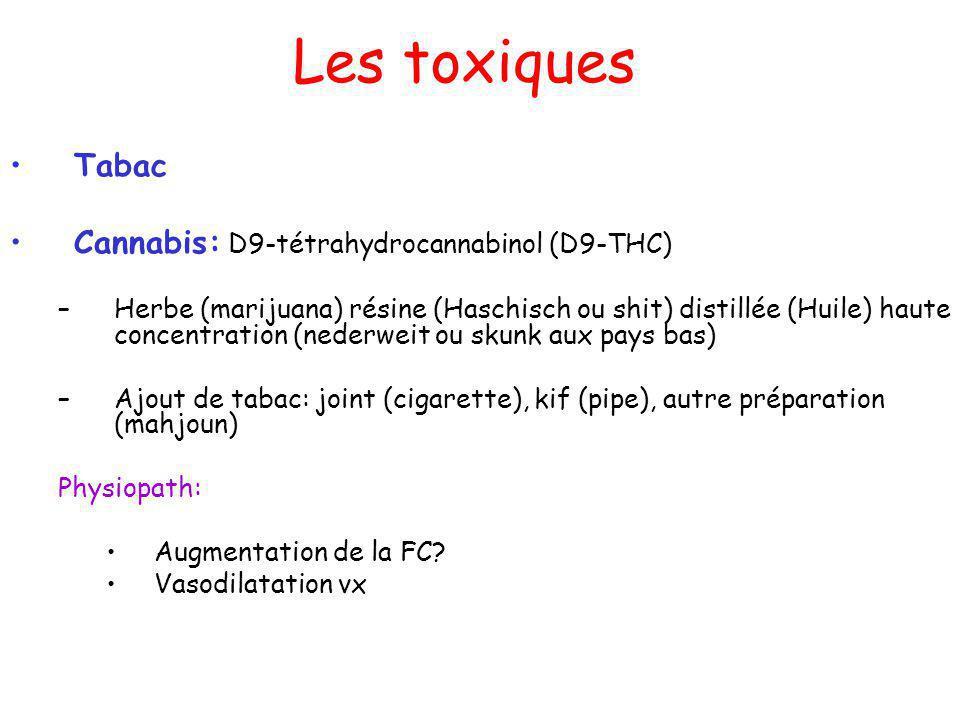 Les toxiques Tabac Cannabis: D9-tétrahydrocannabinol (D9-THC)