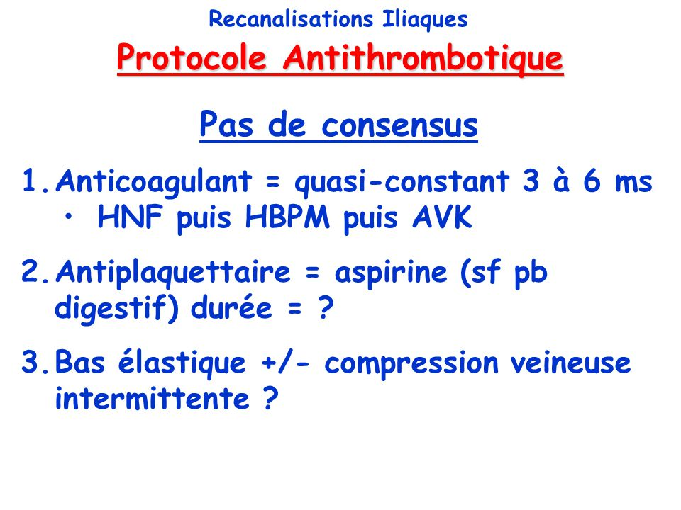 Protocole Antithrombotique