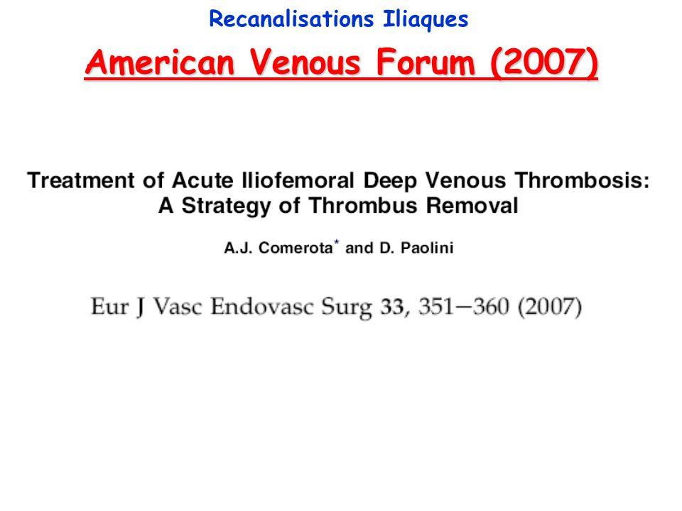 American Venous Forum (2007)
