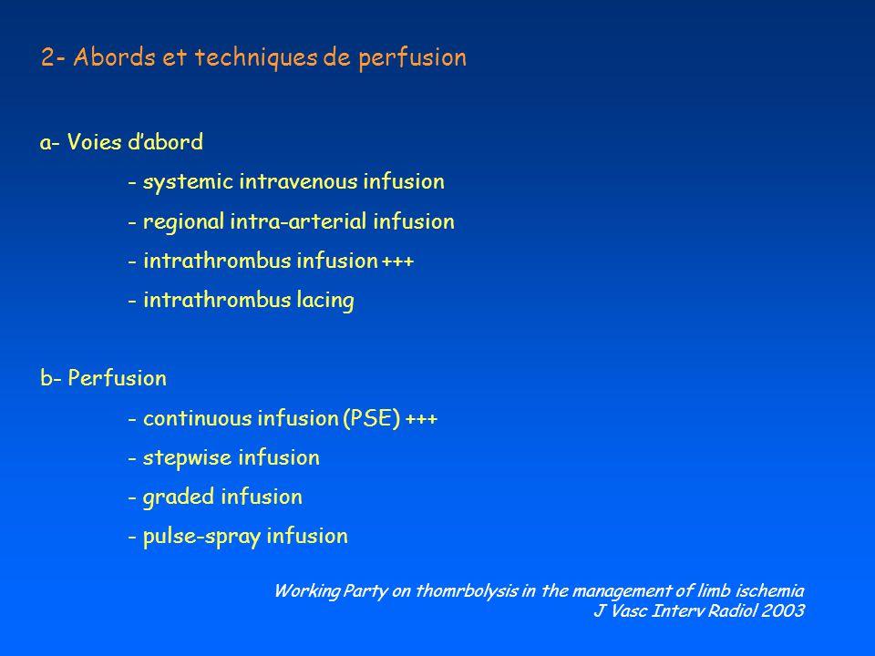 2- Abords et techniques de perfusion