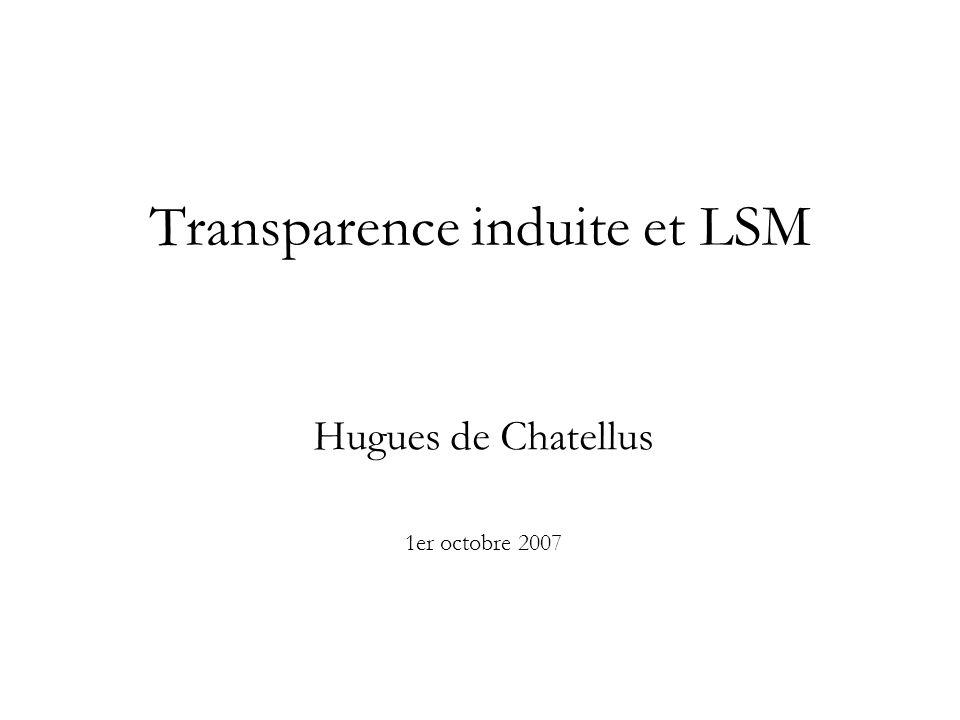 Transparence induite et LSM