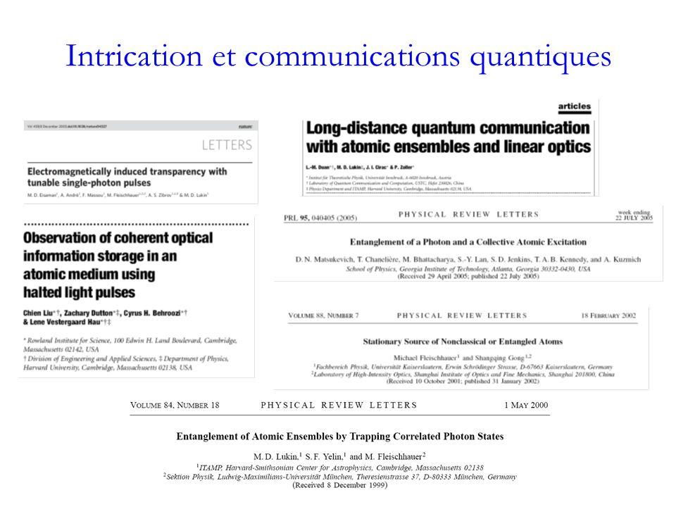 Intrication et communications quantiques