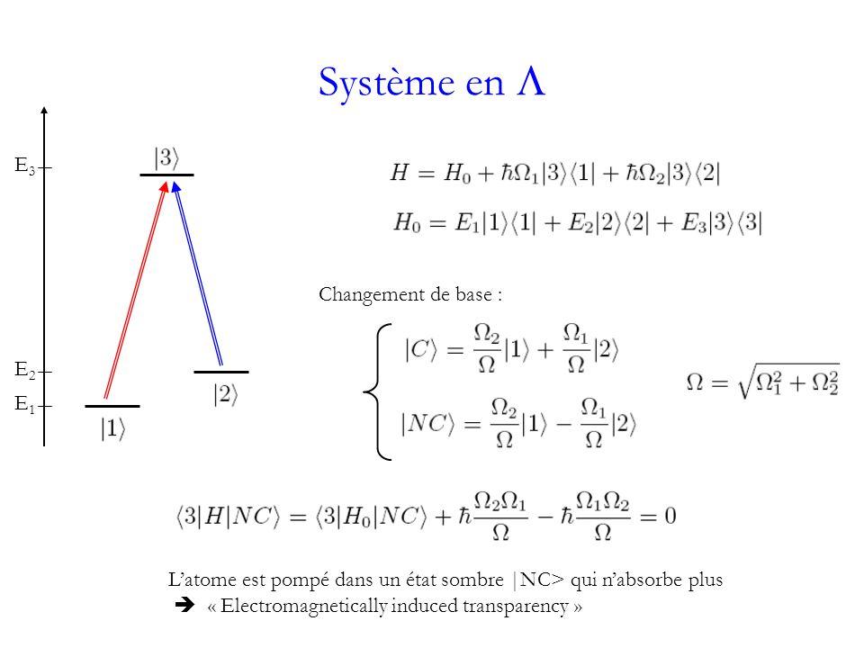 Système en L E3 Changement de base : E2 E1