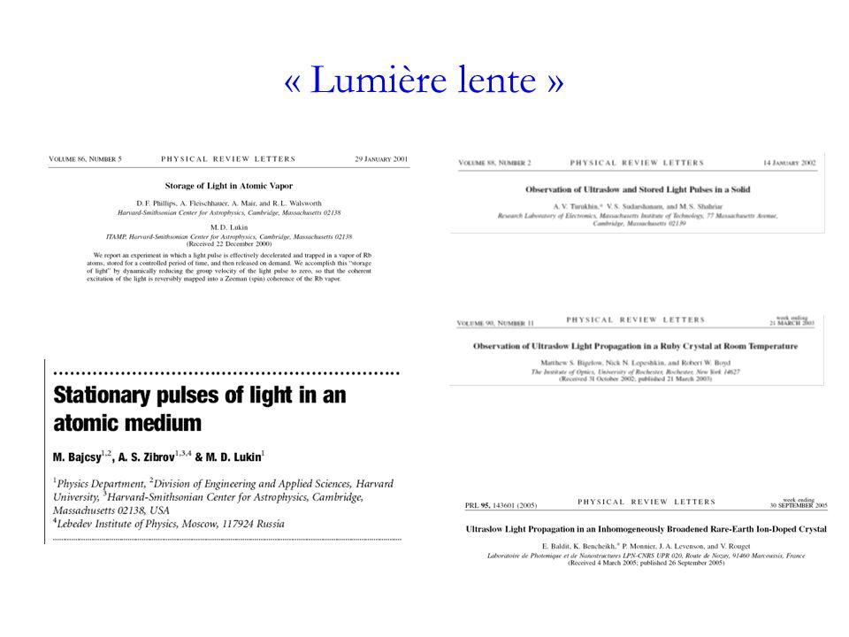 « Lumière lente »