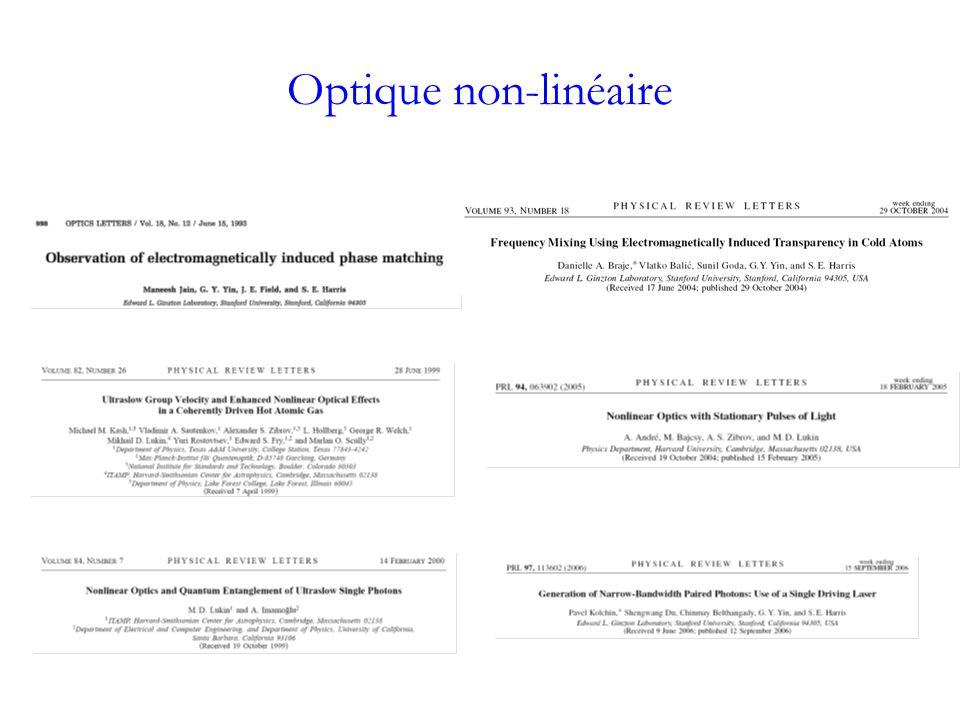 Optique non-linéaire
