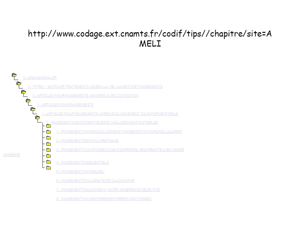 http://www.codage.ext.cnamts.fr/codif/tips//chapitre/site=AMELI
