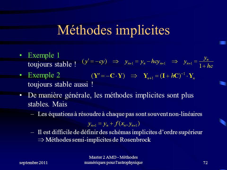 Master 2 AMD - Méthodes numériques pour l astrophysique
