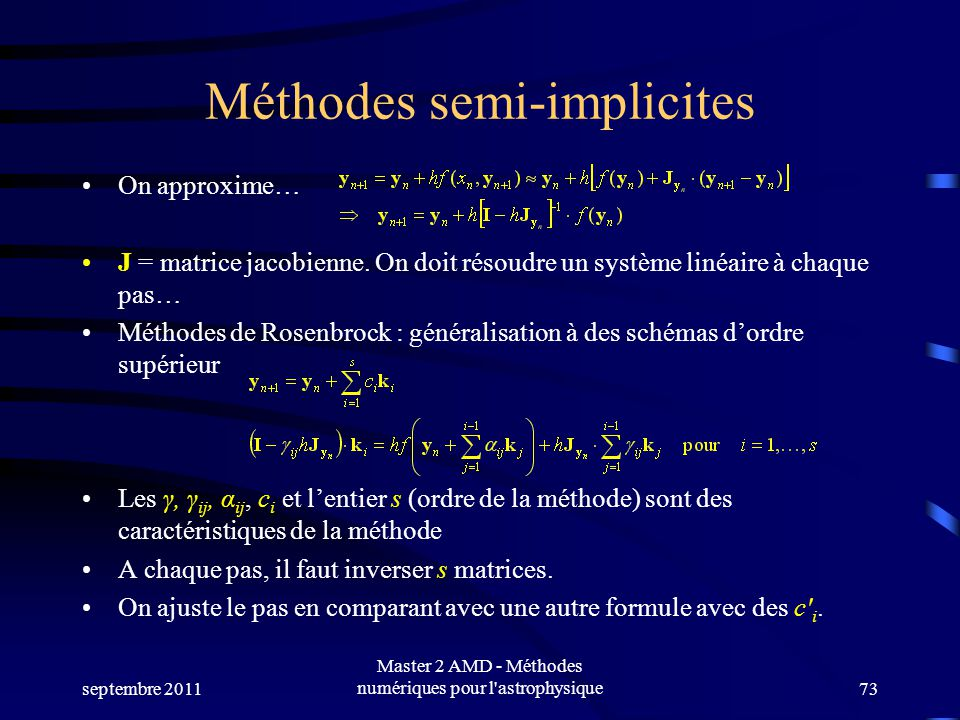 Méthodes semi-implicites