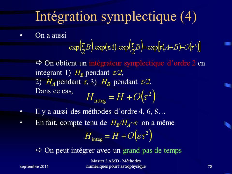 Intégration symplectique (4)