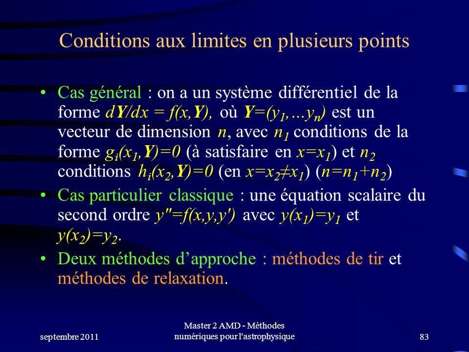 Conditions aux limites en plusieurs points