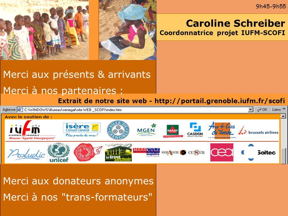Caroline Schreiber Coordonnatrice projet IUFM-SCOFI
