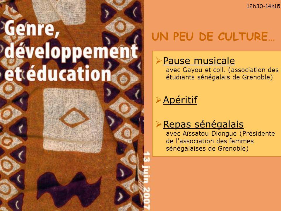 12h30-14h15 UN PEU DE CULTURE… Pause musicale avec Gayou et coll. (association des étudiants sénégalais de Grenoble)